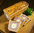 Pork gala pie with egg